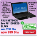 ASUS Netbook Eee PC BLACK