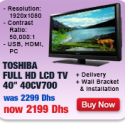 Toshiba 40″ LCD TV Full HD