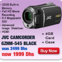 JVC HD Camcorder BLACK + 4GB CARD + CASE