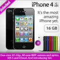 iPhone 4S 16GB [Black] + 7colorful covers