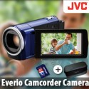JVC Everio Camcorder Camera+ 4GB Card + Case [Blue]