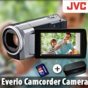 JVC Everio Camcorder Camera+ 4GB Card + Case [Silver]